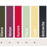 Alla markerade trendfärger går att beställa 2015.