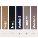 Alla markerade standardfärger går att beställa.