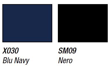 Vanligaste färgerna är Marinblå, Fumo och Svart